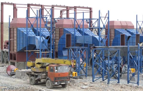 Строительство объектов на территории Нурказганскаой обогатительной фабрики